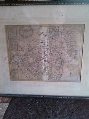 1701 Acient hand colored Map by R.Morden