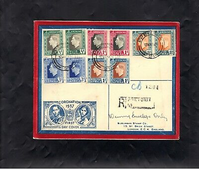 First Day Cover - South Africa 1937 - Coronation of KGV1