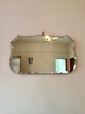 Art Deco Vintage Wall Mirror Bevelled  Chain Antique Wall Hung