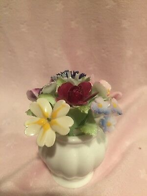 "Vintage Royal Doulton bone china 3"" vase with floral bouquet England NEW PRICE"