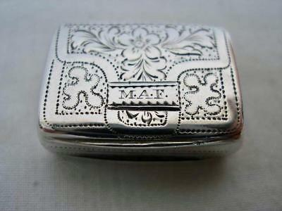 Fine 1833 Antique Sterling Silver Satchel Form Vinaigrette by Joseph Bettridge.