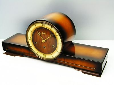 Pure Art Deco Westminster Chiming Mantel Clock From  Hermle - Zentra