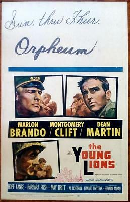 Montgomery Clift Marlon Brando The Young Lions Orig Us Wc And Lobby