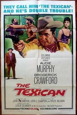 Cowboy Western Fave Audie Murphy Is The Texican Orig Us One Sheet Poster