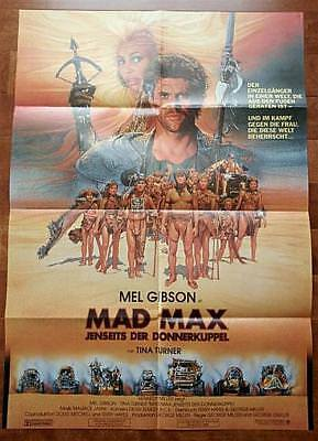 Mel Gibson Tina Turner Original Mad Max German Release Film Poster