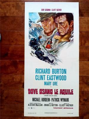 Western Fave Clint Eastwood Original Where Eagles Dare Italian Wwii Film Poster