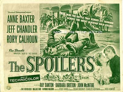 Anne Baxter Jeff Chandler Rory Calhoun Orig Western Universal Pictures Herald