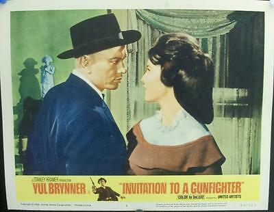 Yul Brynner Invitation To A Gunfighter Spaghetti Western Style Us Lobby Set