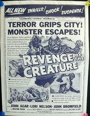 Universal Horror Sci Fi Revenge Of The Creature From The Black Lagoon Us Herald