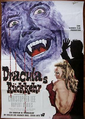 Hammer Horror Not Universal Original Dracula Has Risen From The Grave Poster