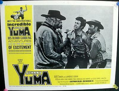 Mark Damon Is Johnny Yuma Original Spaghetti Western Us Lobby Card Lot X 7