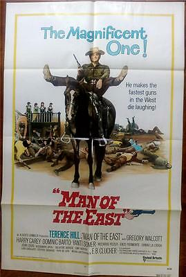 Spaghetti Western Star Terence Hill Is The Man Of The East Orig Us One Sheet
