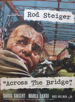 Rod Steiger Is Across The Bridge Original Uk Rank Films Crown Poster