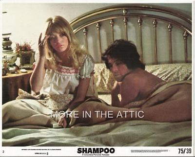 Warren Beatty Goldie Hawn Orig Vintage Mini Lobby Set To Shampoo