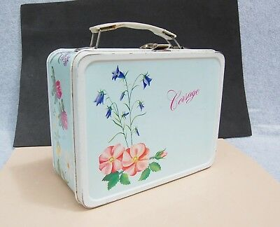Corsage Flower Tin Metal Lunch Box Vintage 1964 King Seeley Thermos Co Girl Prom