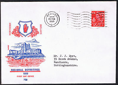 Northern Ireland Regional Definitives First Day Cover 26th Feb 1969 ni9