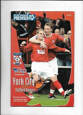 York City V Stafford Rangers 9/10/2007 Blue Square Premier  (6)