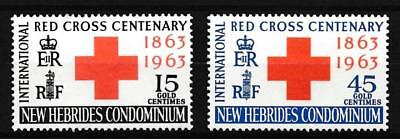 [17359] New Hebrides 1963 : Red Cross - Good Set of Very Fine MNH Stamps