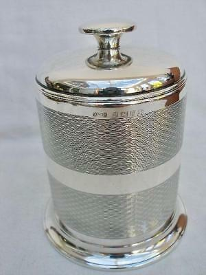 Superb Sterling Silver Art Deco Style Cylindrical Cigarette Box Dispenser.