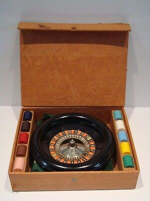 Vintage 1941 LOWE Metal Roulette Game COMPLETE With Original Ball and Case