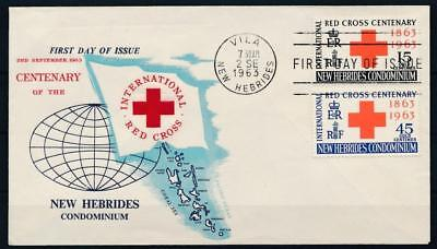 [G61964] New Hebrides 1963 Red Cross good Very Fine First day cover