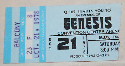 Genesis - Ticket Stub 10/21/78 Dallas, TX. - ...And Then There Were Three...