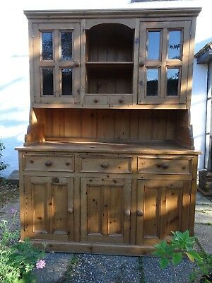 Large Vintage Pine Dresser Made from Reclaimed Wood Kitchen Playroom