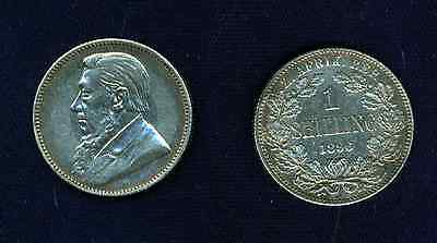 South Africa   1896   1 Shilling  Silver  Coin   Xf+