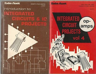 Lot Of 2 Radio Shack Books Integrated Circuits Projects