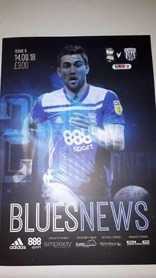 Birmingham City V West Bromwich Albion 14/09/2018  Match Day Football Programme