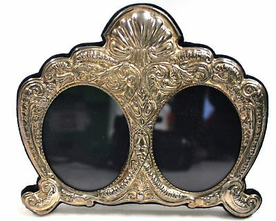 Vintage 1994 CARRS of Sheffield SILVER Ornate Double Photo Frame  - K20