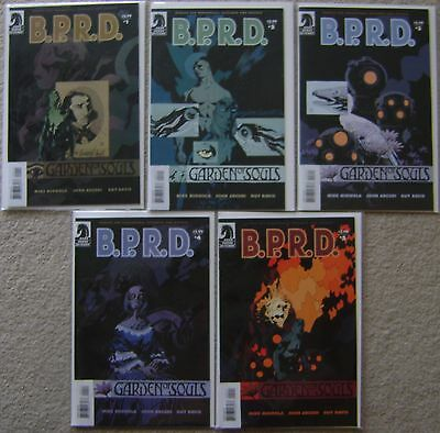B.P.R.D. Garden of Souls #1-5 Dark Horse Comics (5) Complete Set 2007 VF to NM