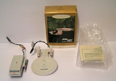 2 Hallmark Star Trek Christmas Ornaments- U.S.S. Enterprise  and Galileo