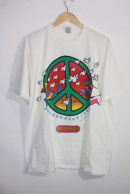 Peter Max Woodstock 1994 New York August 13th & 14th Tee / White / Extra Large