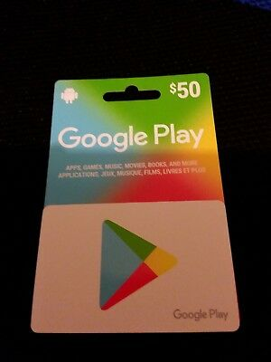 Google Play gift card $50.00 (Fifty dollars) value