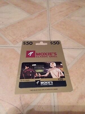 Moxie's Grill/Bar gift card $50.00 (Fifty dollars) value