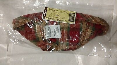 Longaberger Tea basket liner in Orchard Park Plaid fabric mint never used in bag