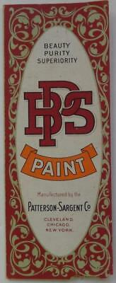 Antique Booklet BPS Beauty Purity Superiority Paint Chips Patterson-Sargent Co
