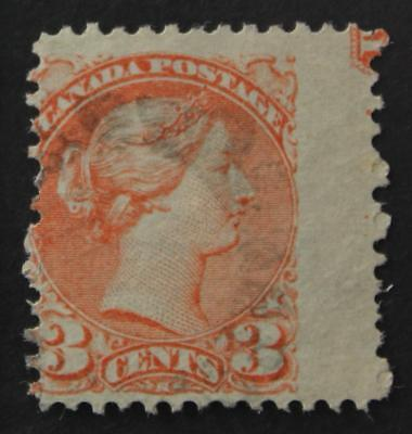Canada #41 Used With Part Plate Inscription, No Tears Or Thins