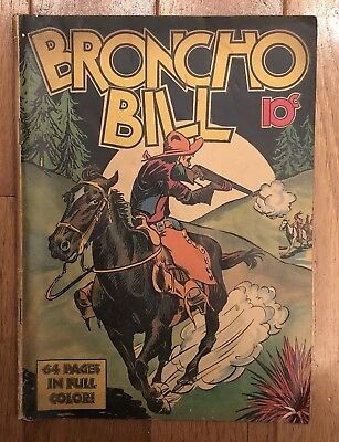 BRONCO BILL Comic Book Harry O'Neill United Feature Syndicate NY 1939 No Issue #