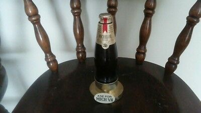 vintage collectable beer bottle Michelob VII advertising stand