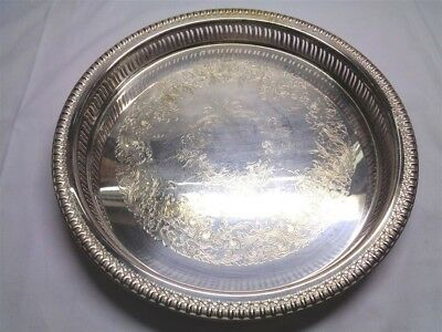 "Webster & Wilcox International Silver Co. 12"" Brandon Hall Serving Tray"