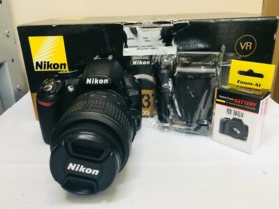 Nikon D D3100 14.2MP Digital SLR Camera - DX 18-55mm Lens. NEW BATTERY + CHRGER