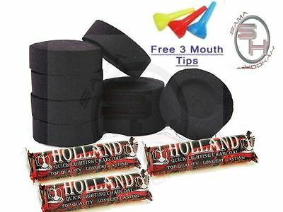 30 Piece Holland Charcoal Fast Easy Quick Lite Light Hookah Coal 3 Roll Incense