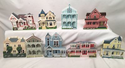 Wood Houses Collectible Lot of 9 by Shelia's 92