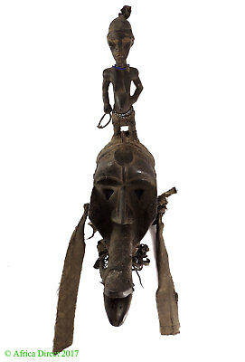 Dan Guere Mask Elongated Mouth and Figure on Top Africa SALE WAS $750.00