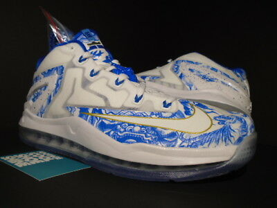 huge selection of 35ff0 235f8 Nike Air Max Lebron Xi 11 Low Ch Pack China Chinese Porcelain White Cobalt  9.5