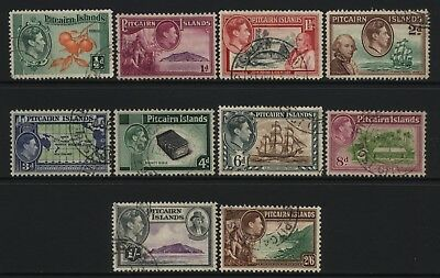 Pitcairn Islands KGVI Multi Design Values Set Used