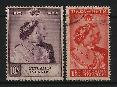 Pitcairn Islands 1948 KGVI Silver Wedding Pair Fine Used