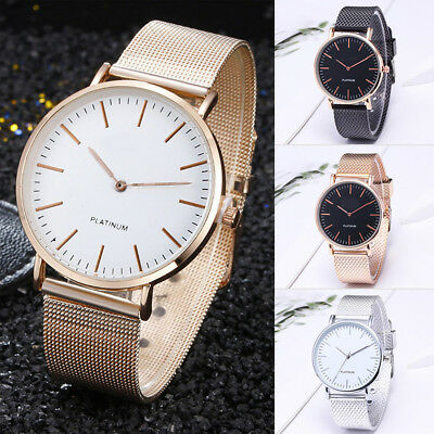 Women Girl Luxury Watches Stainless Steel Analog Quartz Bracelet Wrist Watch